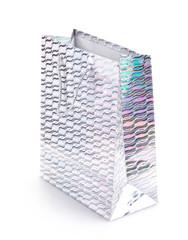 Silver gift bag