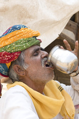 colorful turban, costume, Rajasthan, rural India