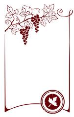 Design element - frame with vine