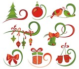 Set of Christmas icons and elements