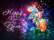 Happy New Year vector celebration background, easy editable