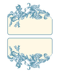 Business card, label, button, banner,  blue color
