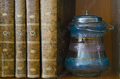 Books and Jar