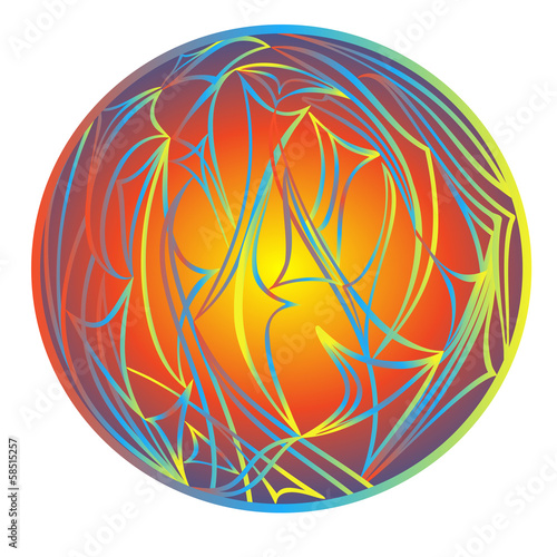Abstract rainbow balls filling