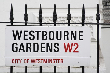 Westbourne Gardens a famous street in London