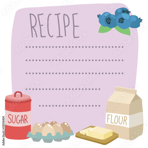 vector recipe card