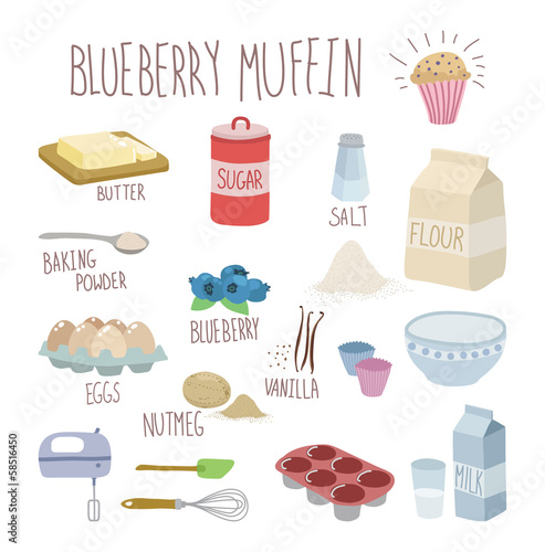 blueberry muffin recipe - 58516450