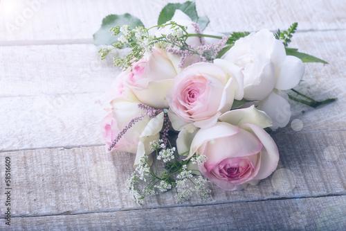 Foto op Canvas Lilac Postcard with elegant flowers