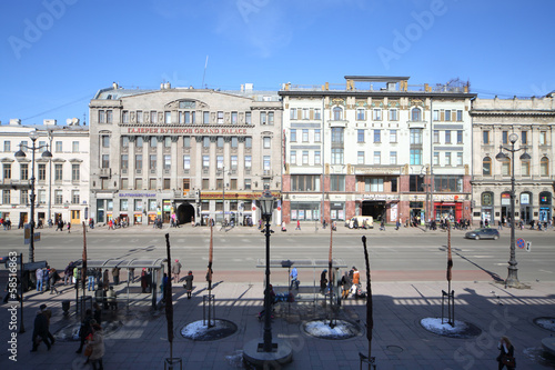 View of buildinds on Nevsky Prospekt