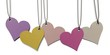 five heart shaped paper tags
