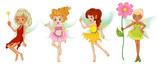 Fototapety Four cute fairies