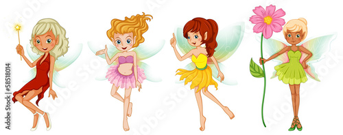 Four cute fairies