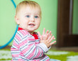 blue-eyed toddler