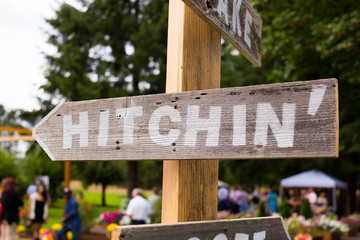 Hitchin Wedding Sign