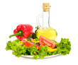 vegetable salad with olive oil