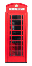 Red Telephone Box on White