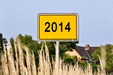 2014 - Ortseingangsschild