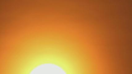 Sun in haze