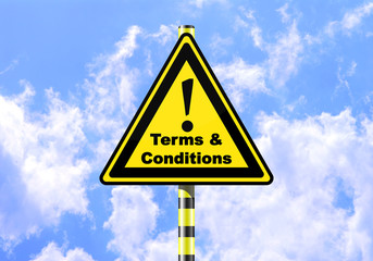 TERMS CONDITIONS ROAD SIGN
