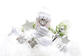 Christmas Decorations with snowman and  gifts