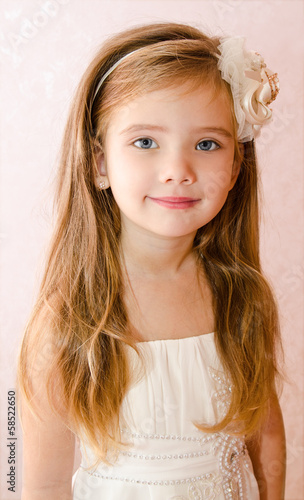 Portrait of little girl in princess dress