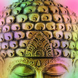 canvas print picture - Buddha colorful