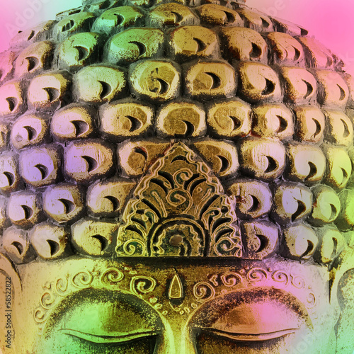 canvas print picture Buddha colorful