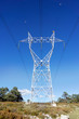 canvas print picture - High voltage transmission tower