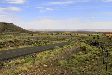 en route vers le Wupatki National Monument