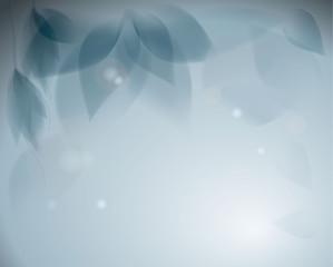 Blue flowers / Romantic monochrome background