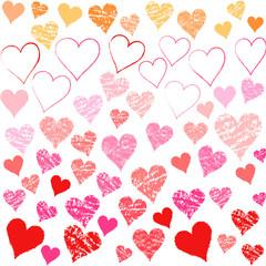 バレンタインハートアナログ風