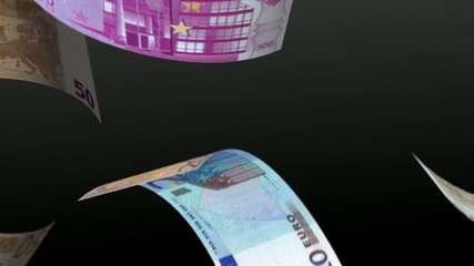 Euro notes falling with alpha