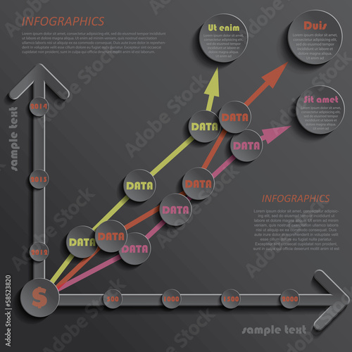 Modern template infographics design data presentation indicators