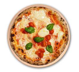 pizza margherita isolata