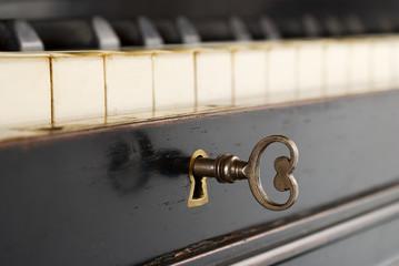 antique piano lock