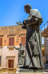 Sculptures of Pope John Paul II and Pius IX in Gozo