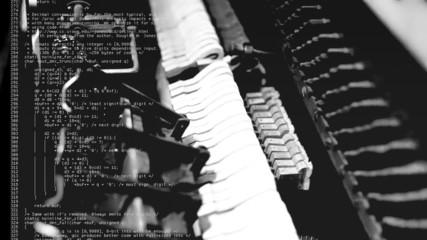 Piano inner mechanism source code double exposure