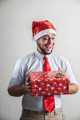 funny christmas business man