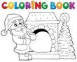 Coloring book Santa Claus theme 9
