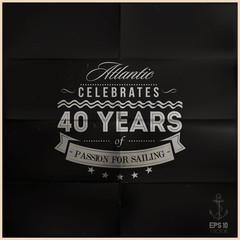 Folded Black Sailing Anniversary