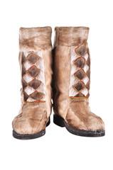 high fur boots