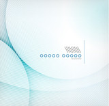 Fototapety Abstract blue wave blur vector background