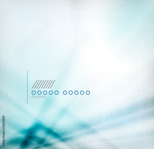 Blue blurred geometric shape background