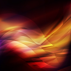 Red and orange abstract flame background vector lines template