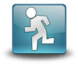 "Light Blue 3D Effect Icon ""Running"""
