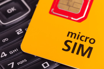 Mobile phone with micro sim card
