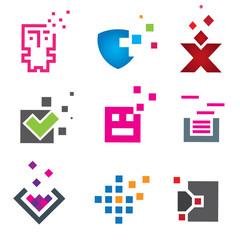 Pixel computer programming logo brand company
