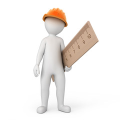 worker with a ruler