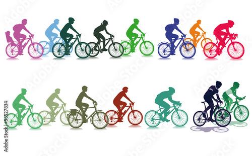 Fototapeta Radfahren in der Gruppe