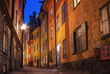 Gamla stan in Stockholm at night.